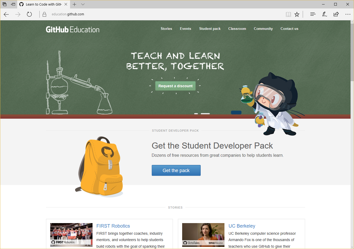 Github 학생 개발자 팩을 얻어보자!