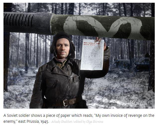 [독소전쟁]대조국전쟁의 소련 병사들...
