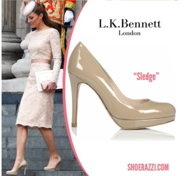 구두 - L.K.Bennett Sledge Natural Patent ..