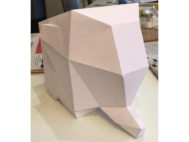 초심플 코끼리 페이퍼크래프트