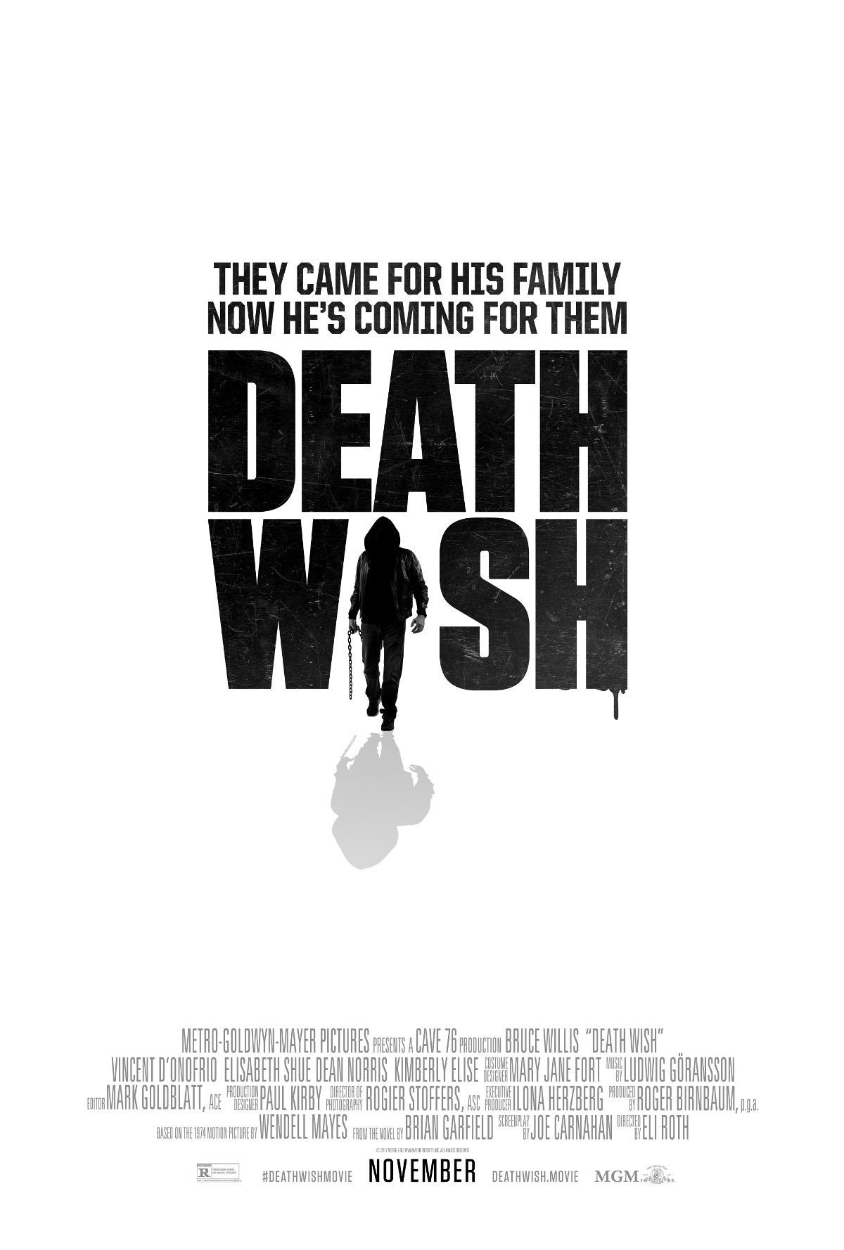 """""""DEATH WISH"""" 새 예고편입니다."""