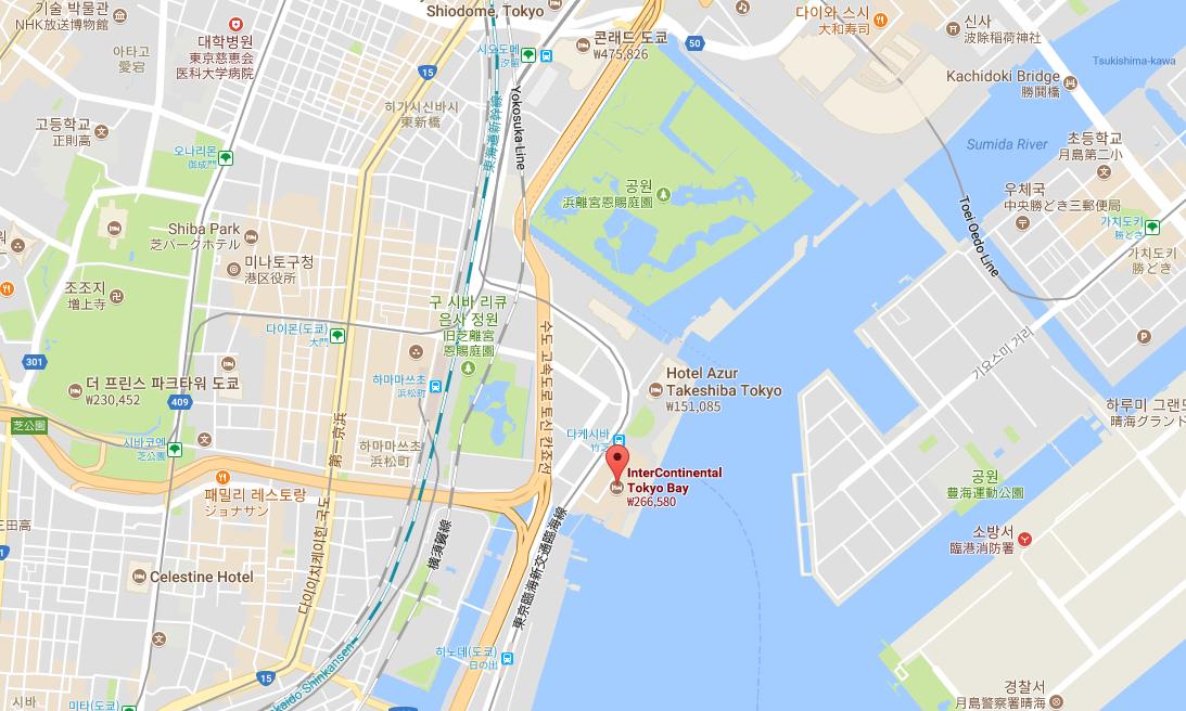 [16월 8월 일본여행?]인터콘티넨탈 도쿄 베이의 ..