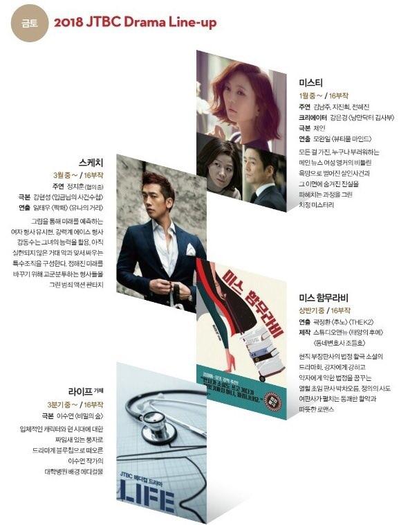 내년 상반기 JTBC 편성 라인업