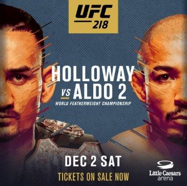 UFC 218 조제 알도 VS. 맥스 할로웨이 2차전