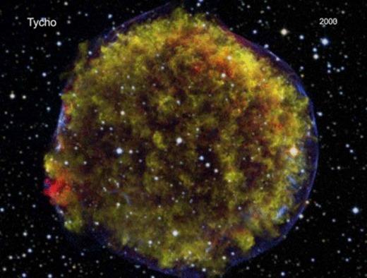 시속 1,900만 km로 팽창하는 초신성 `티코(Tyc..