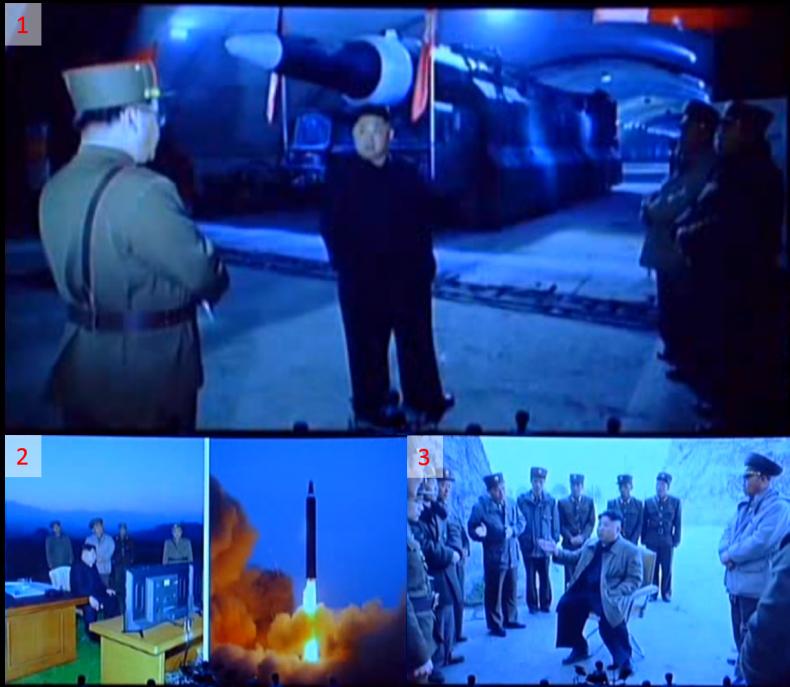북한의 미사일이 북한도시에 떨어지다.