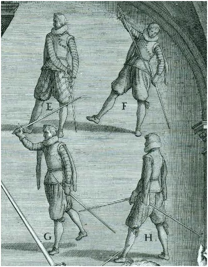 [Girard Thibault d'Anvers]뒤로 물러나며 칼을..