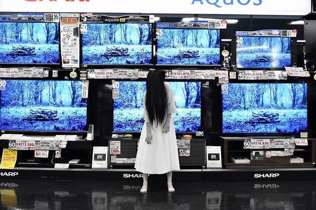 영화 '링' 시리즈의 사다코가 오사카 요도바시 우메..