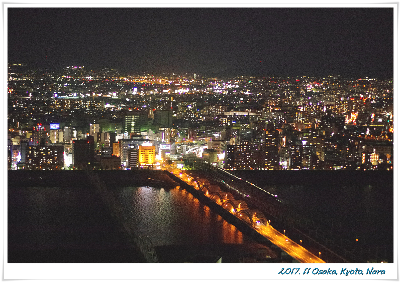 오사카 밤풍경