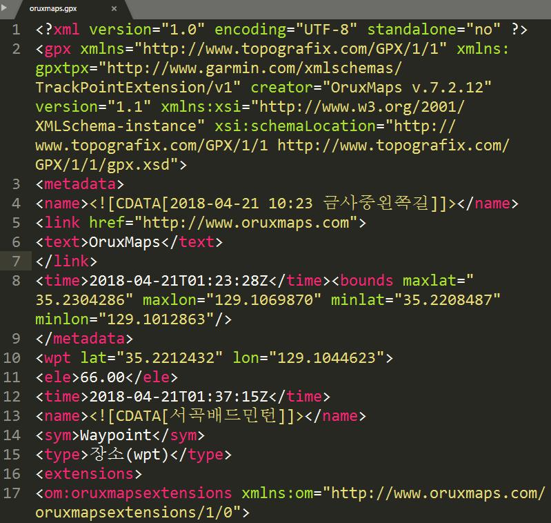gpx 파일로 mapsforge의 map파일 만들기