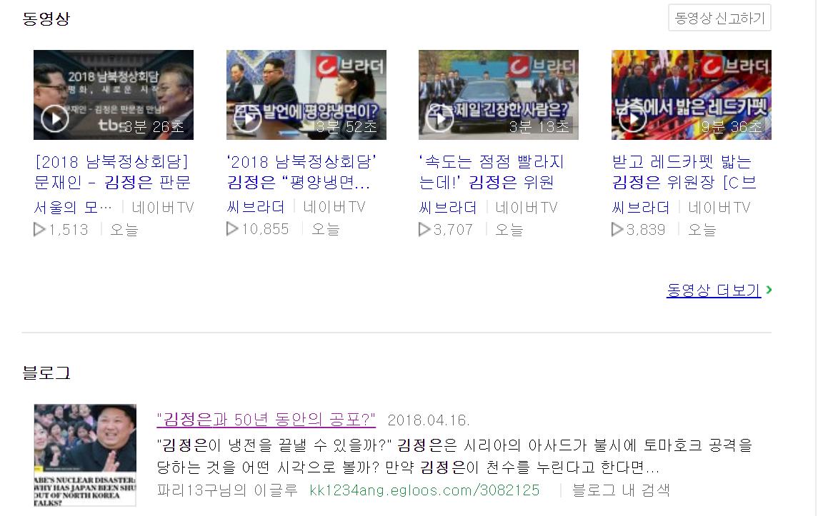 """""""김정은이 네이버를 검색한다면?""""^^"""