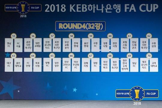 2018 KEB하나은행 FA컵 32강+16강 대진
