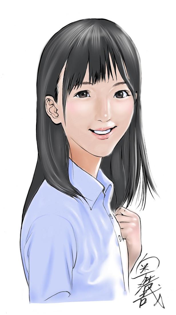 만화가 '오쿠 히로야'씨가 그린 배우 코마이 렌의 일..