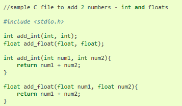 파이썬에서  C 프로그램 부르기