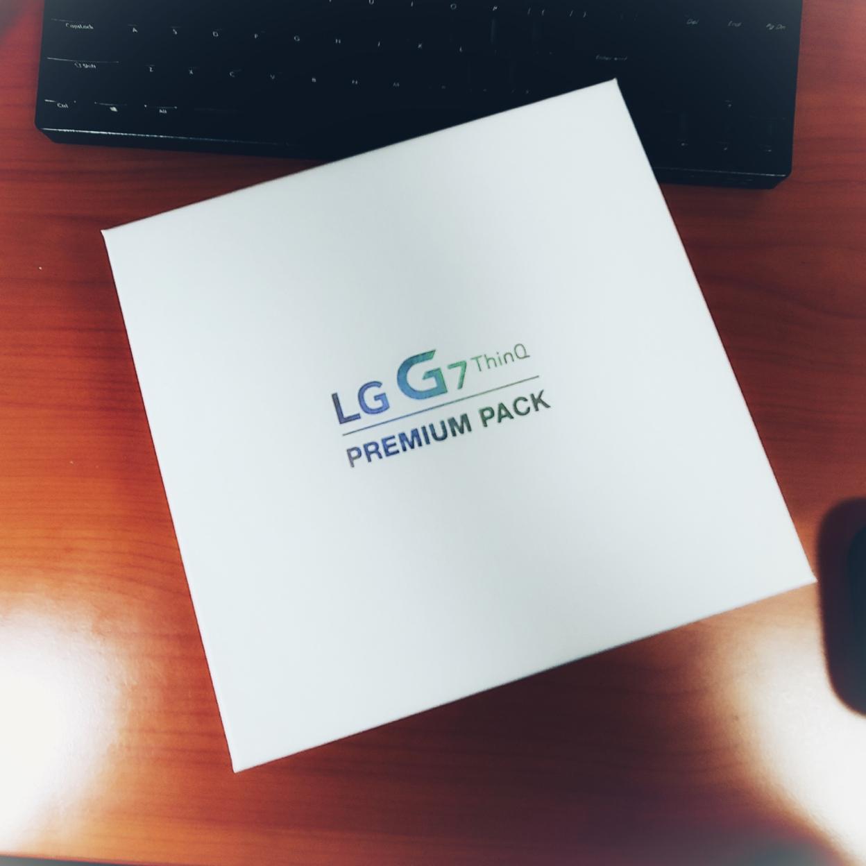 LG G7, 프리미엄 기프트팩 도착