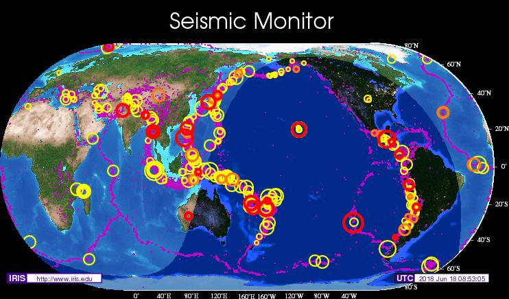 오늘 일어난 지진은 일본 말고도