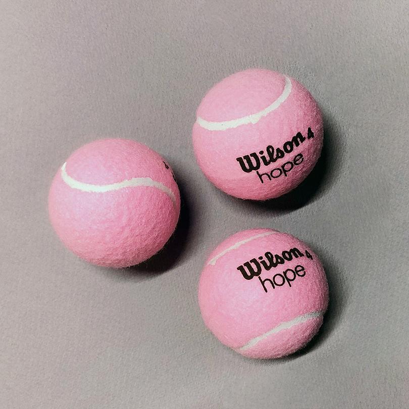 윌슨 분홍 테니스공