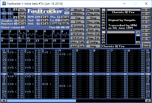 Fasttracker II clone - Beta version #74