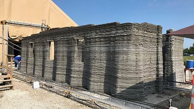 미 해병대가 3D 프린터로 콘크리트 건물을 24시간 만..